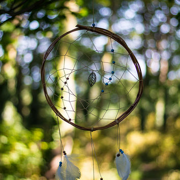 Boho Willow Dreamcatcher  - Bohemian Wall Hanging Dream Catcher Baby Tribal Crib Nursery Baby Feathers Baby Boy Girl