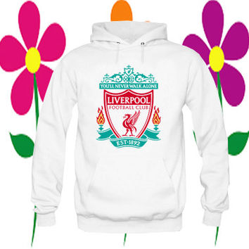 liverpool football club hoodie white on Size : S-3Xl, adorabel and heppy feed in new year.