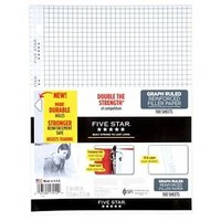 Five Star® Reinforced Filler Paper Graph Ruled 100ct White