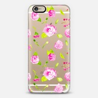 Pink Watercolour Flowers iPhone 6 case by Violet LeBeaux | Casetify