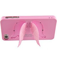 Angel Wings Cover for iPhone 4 & iPhone 4S, Pink