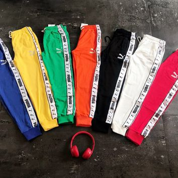 Puma Taped Side Stripe Track Pants Sweatpants