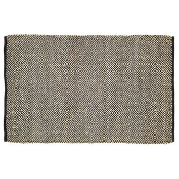 Zuma Black - Jute & Cotton - Handwoven -  48 x 72 - Rug