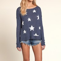 Star Print Americana Sweater