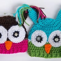 Crochet Owl Hat Infant Baby Newborn 0 3m 6m Halloween Costumes Boy Girl Halloween Costume Christmas Gift