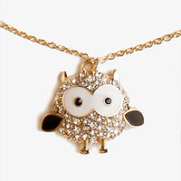 Rhinestone Owl Necklace | FOREVER 21 - 1041822888