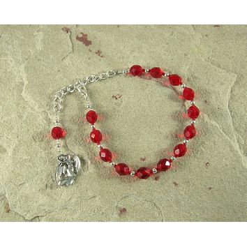 Lilith Prayer Bead Bracelet: Sumerian/Babylonian Goddess of Fertility and Free Will.