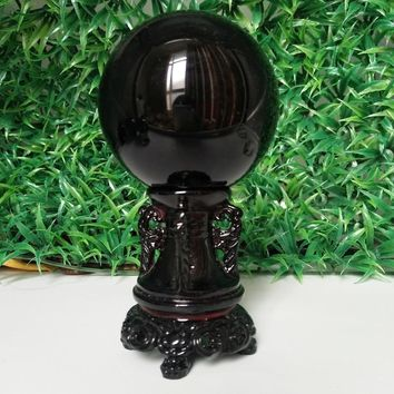 Protective Mirror of Truth Obsidian Sphere