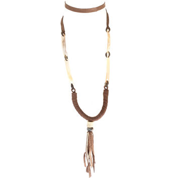 Day Dreamer Shell & Leather Necklace