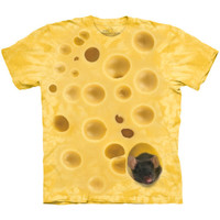 SWISS CHEESE MOUSE The Mountain Funny Big Food Giant Print Costume T-Shirt S-3XL