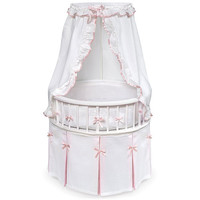 Walmart: Badger Basket - Round Elegance Baby Bassinet, in Pink