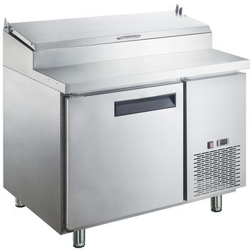 Commercial Kitchen Refrigerated Pizza Prep Table 44""