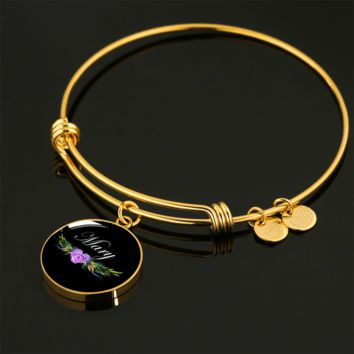 Mary v6b - 18k Gold Finished Bangle Bracelet