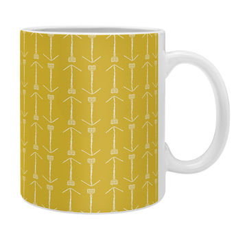 Allyson Johnson Chartreuse Arrows Coffee Mug