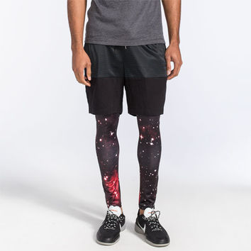 Brooklyn Cloth Space Mens Active Leggings Multi  In Sizes