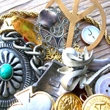 Scrap Lot - Jewelry Parts - Supplies - Junk Lot - Craft Lot - Destash