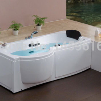 67' Sea Shipping Left Or Right Head Rest Whirlpool Bathtub Acrylic Unique Design Piscine Massage Hot Tub W4005