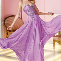 Alyce Prom 6231 - Orchid Strapless Sweetheart Chiffon Prom Dresses Online