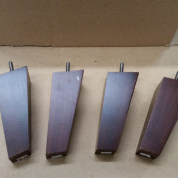 """Tapered and Skewed Mid-Century Modern Style Sofa Replacement Legs- 6"""""""