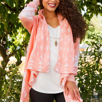 Wild At Heart Cardigan - Peach