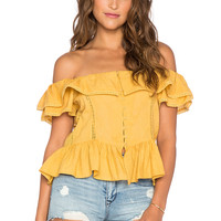Tularosa Maggie Blouse in Marigold