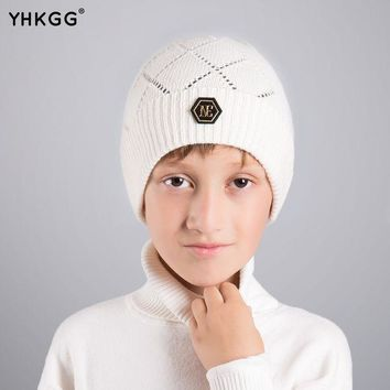 LMFHY3 YHKGG2016 last brand new knitted  kids warm cap solid color children beanies boys girls outdoor  winter
