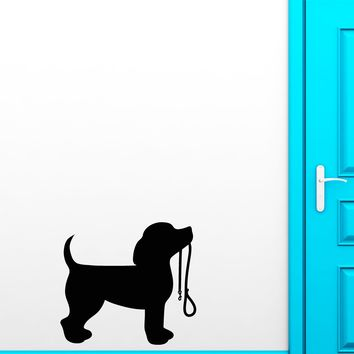 Vinyl Wall Decal Silhouette Dog Puppy Pet Home Animal Stickers (2771ig)