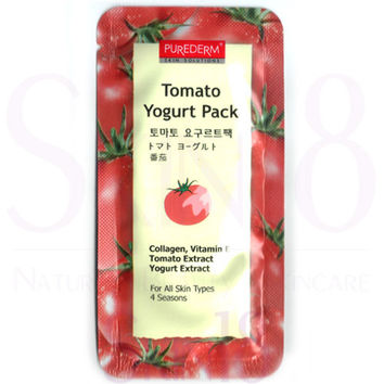 PUREDERM Tomato Yogurt Pack (Wash-Off Mask)  (exp.date 04/19)