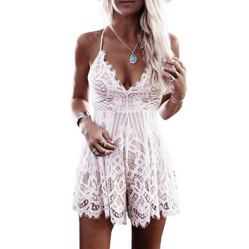 DCCKFS2 Fashion Summer Rompers Womens Jumpsuit Elegant Casual Bohemian Casual Overalls Playsuits Harajuku Macacao Clothing