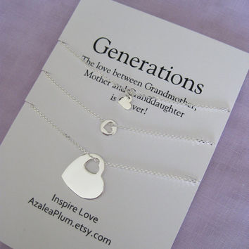 Grandmother Mother Daughter Jewelry From Azaleaplum On Etsy