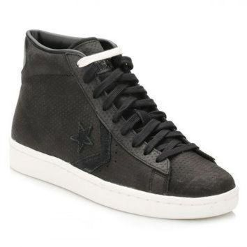 DCCK1IN converse mens black pl 76 mid trainers
