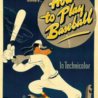 Goofy How To Play Baseball Vintage Movie Poster