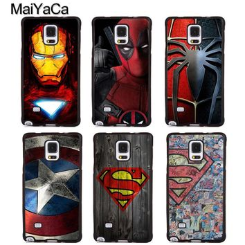 MaiYaCa Ironman Batman Spider-Man Marvel Soft Rubber Phone Cases For Samsung Galaxy S6 S7 edge plus S8 S9 Note 4 5 8 Back Cover
