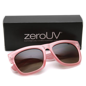 "Zerouv + Plus ""Harlow"" Oversize Translucent Horned Rim Womens Sunglasses"