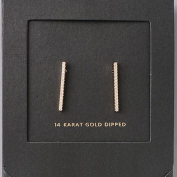 Embellished Bar Stud Earring
