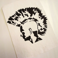A4 Punk with Mohawk Mono-Print