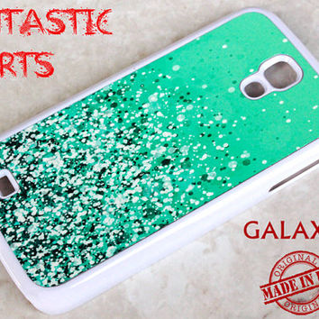 Samsung Galaxy S4, Galaxy S4,Galaxy S4 Case,Cover Galaxy S4,S4 Covers,Samsung S4 Case, S4 Protective Case Green Sparkle (Not Actual Glitter)
