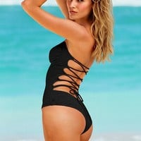 Lace-up One-Piece