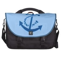 Blue Ship's Anchor Nautical Marine Themed