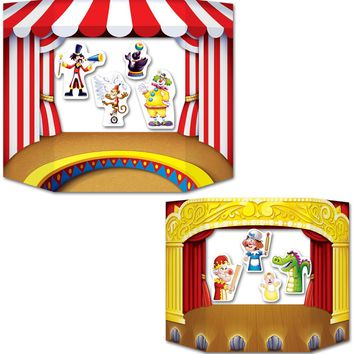 puppet show theater photo prop Case of 6