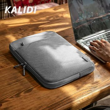 KALIDI Laptop Bag Sleeve 11.6 12 13.3 14 15.6 inch Notebook Sleeve Bag For Macbook Air Pro 13 15 Dell Asus HP Acer Computer Bag