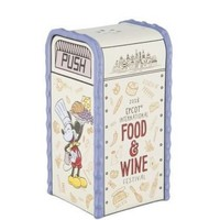 Disney 2018 Food and Wine Mickey Chef Salt Pepper Shaker Trashcan New