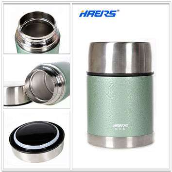 Haers 700ml Thermal Insulated Food Jar With Wide Mouth BPA Free  Food Grade 18/8 Stainless Steel Thermos Lunch Box LTH-700-1