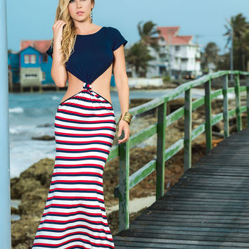 Show Of Your Tan Belly In This Nautical Maxi-Summer Dresses