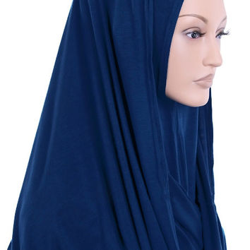 One Piece Jersey Snood Hijab - Various Colors