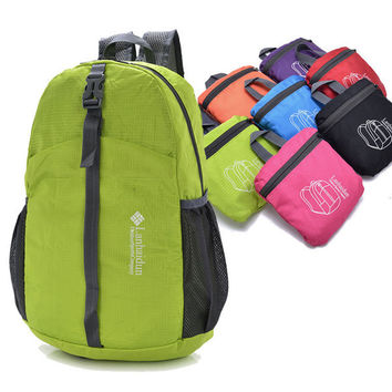Outdoor Lightweight Nylon Folding Backpack Women Men Unisex Travel Bag