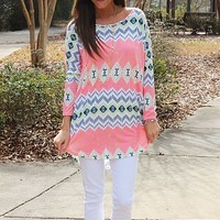 The Aries Tunic, Pink