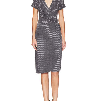 Escada Women's Eumarie Printed Wrap Dress - Dark Grey -