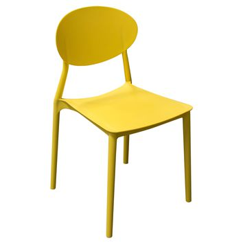 Pixel 4-Pack Indoor/Outdoor Accent Chairs in Yellow Polypropylene (PP)
