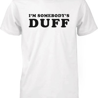 Men's Funny Graphic Tee - I'm Somebody's Duff White Cotton T-shirt